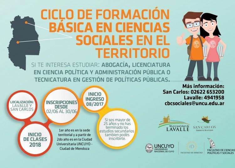 Ciclo de Formación Básica en Ciencias Sociales en Territorio