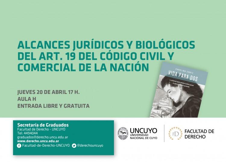 Alcances Jurídicos y Biológicos del Art.19 del Código Civil y Comercial de la Nación