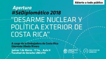 La Embajadora de Costa Rica disertará en la Facultad de Derecho