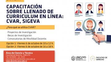 Se brindará una capacitación gratuita sobre Currículum en línea: CVAR y SIGEVA