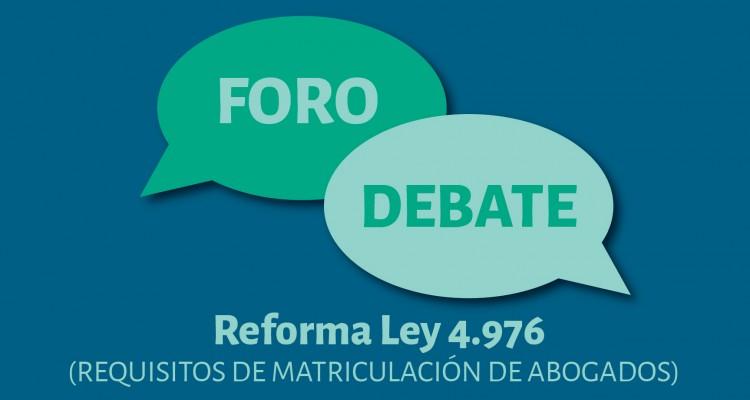 La Facultad de Derecho debatirá el proyecto de reforma a la Ley 4.976