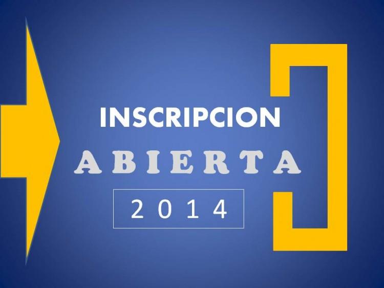 Inscripciones Abiertas 2014