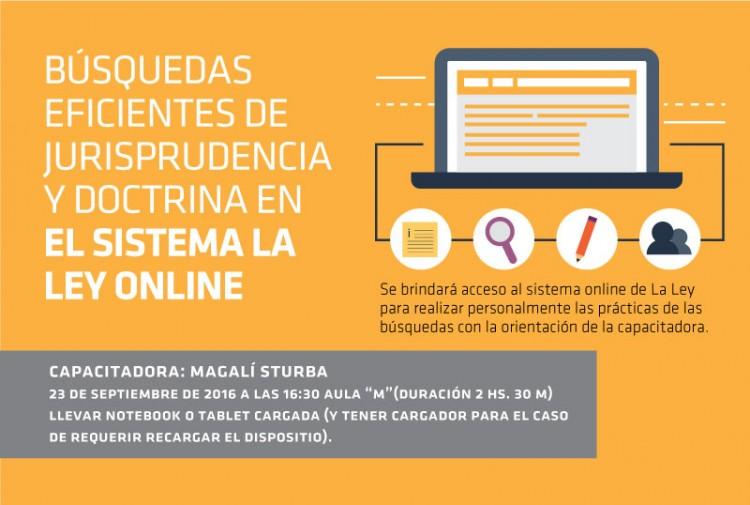 Taller: Búsquedas eficientes de jurisprudencia y doctrina en el sistema La Ley online