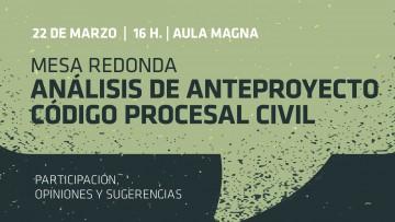 La Facultad de Derecho analiza el anteproyecto del Codigo Procesal Civil