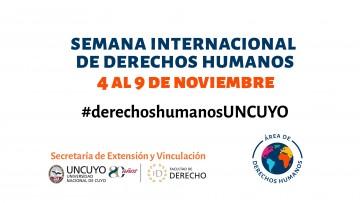 Se viene la Semana Internacional de Derechos Humanos